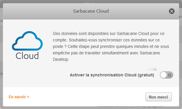 Screen Sarbacane Desktop - POPIN CLOUD