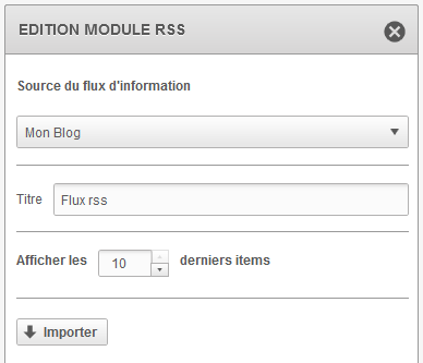 Screen Sarbacane Desktop - Edition module RSS