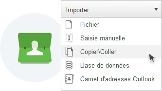 Importez vos contacts emailing simplement