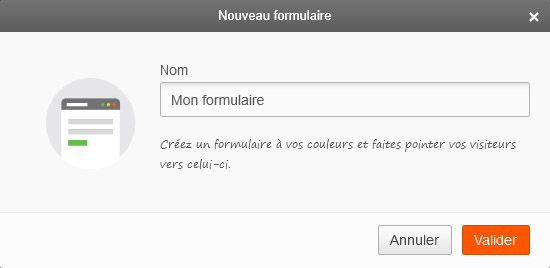 Screen Sarbacane - Editeur formulaire ajout