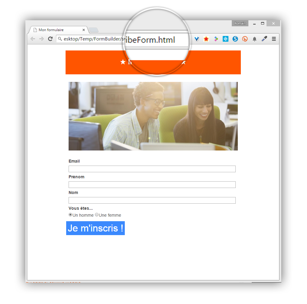 Screen Sarbacane - Editeur formulaire aper�u mobile