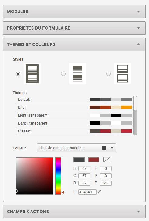 Screen Sarbacane - Editeur formulaire custom