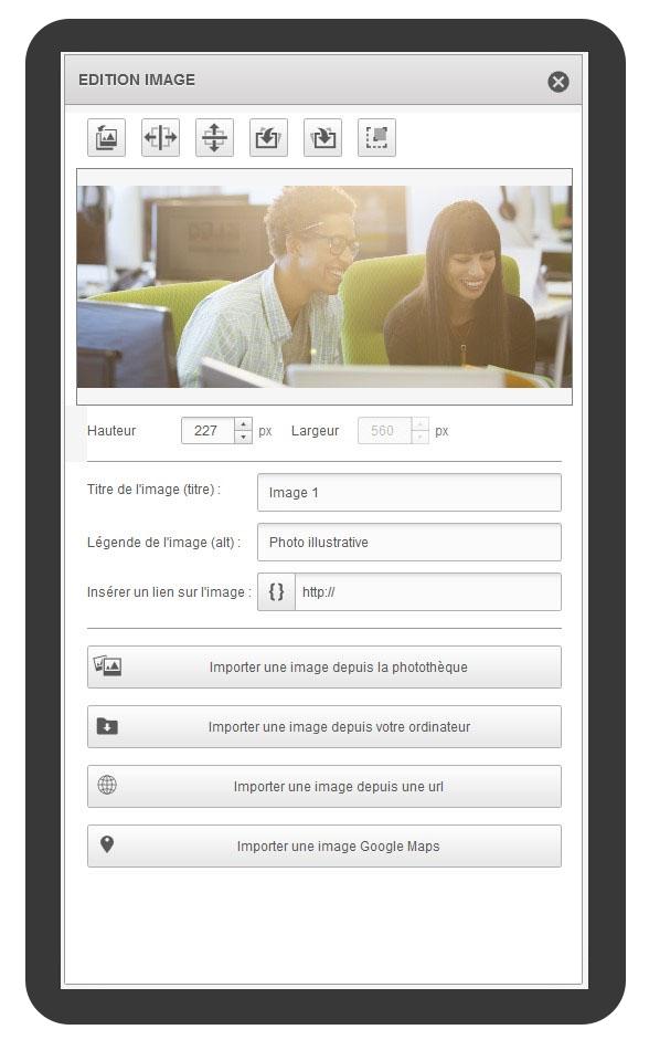 Screen Sarbacane - Editeur formulaire edition image