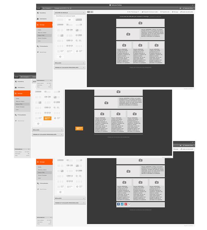 Compo écran emailbuilder Sarbacane