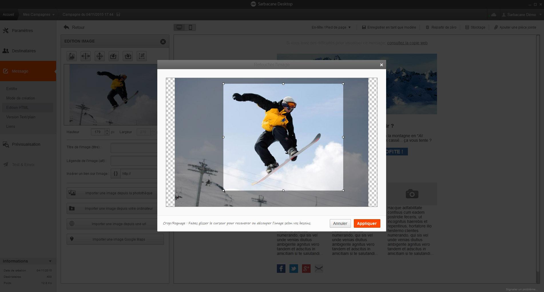 Emailbuilder edition Image - Sarbacane